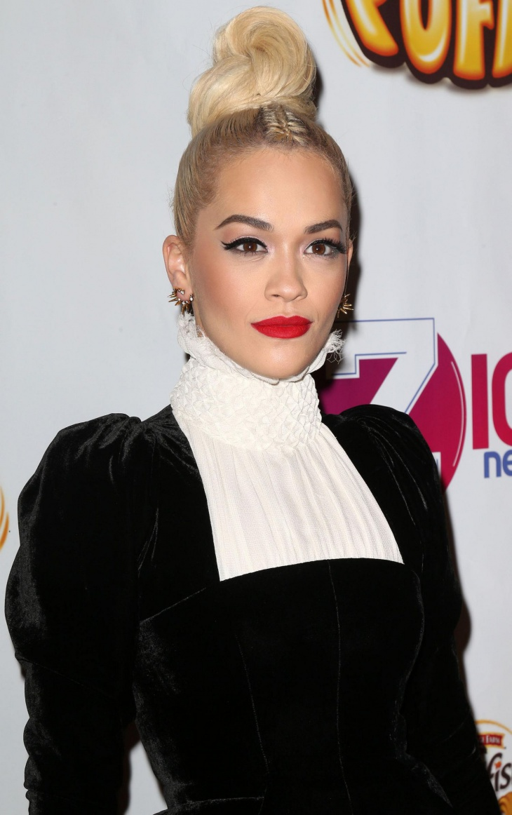 Rita Ora Mohawk Braid Top Knot