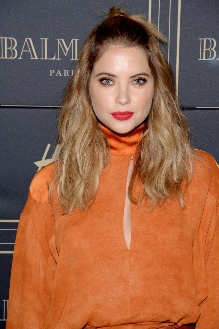 Ashley Benson Half Up Top Knot Idea