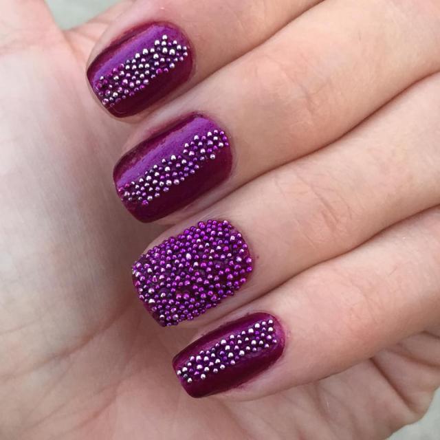 Caviar Beads Nail Art