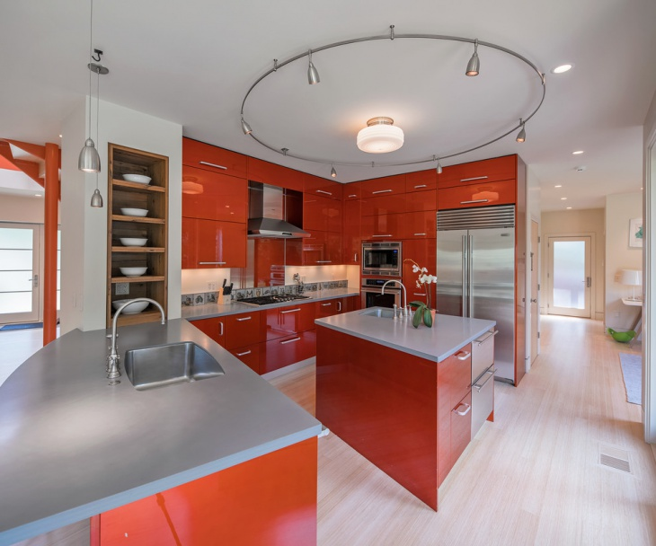 20+ red oak kitchen cabinets designs | design trends