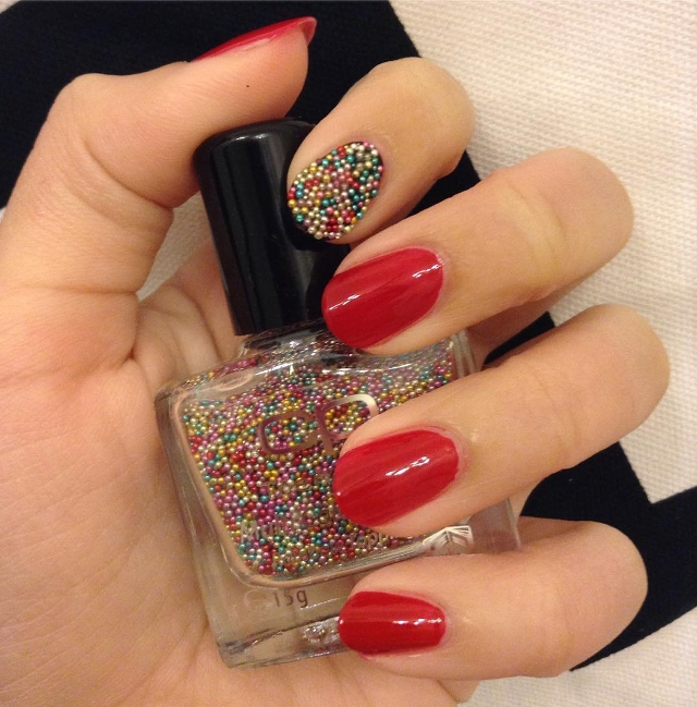 acrylic beaded nails