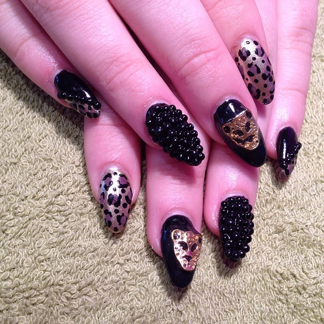 Leopard Nail Art Design