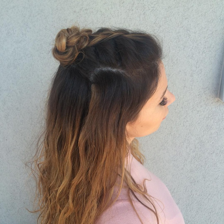 Beautiful Braided Top Bun Hair