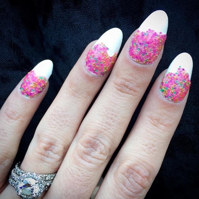 gel bead nail art idea