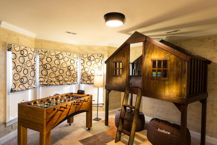 Kids Treehouse Bed Idea