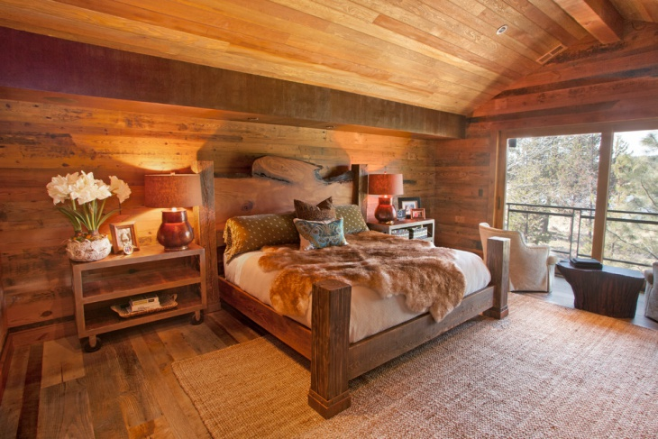 rustic treehouse bedroom idea