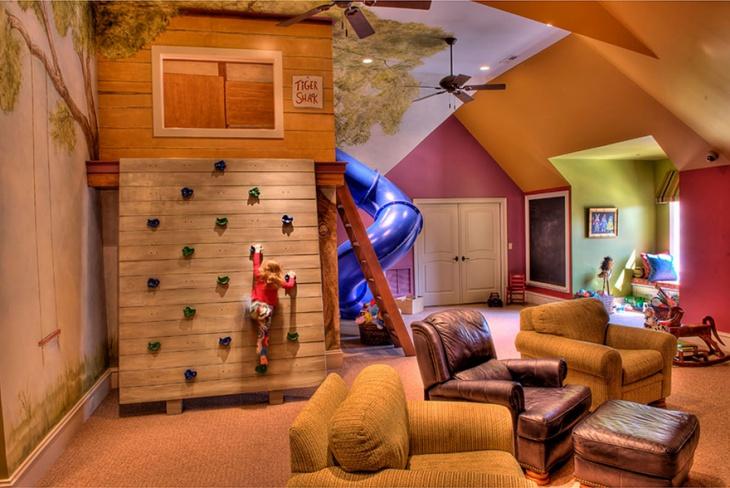 Indoor Kids Treehouse Design