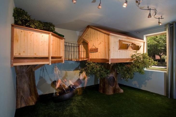 Toddler Treehouse Bed Design