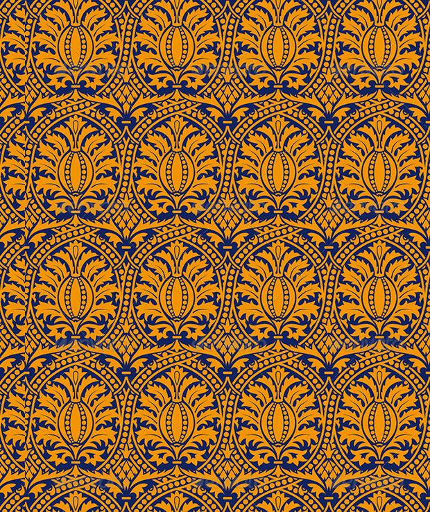 Classic Seamless Yellow Pattern