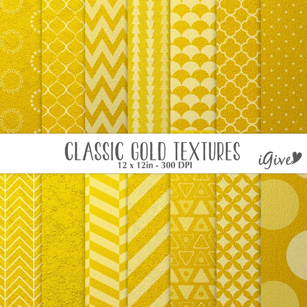 Classic Gold Textured Patterns