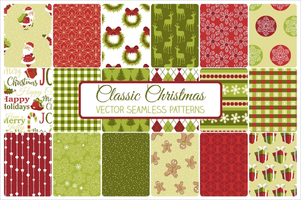 Classic Christmas Seamless Pattern