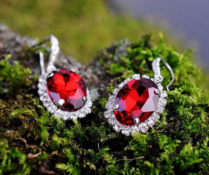 vintage ruby earrings idea