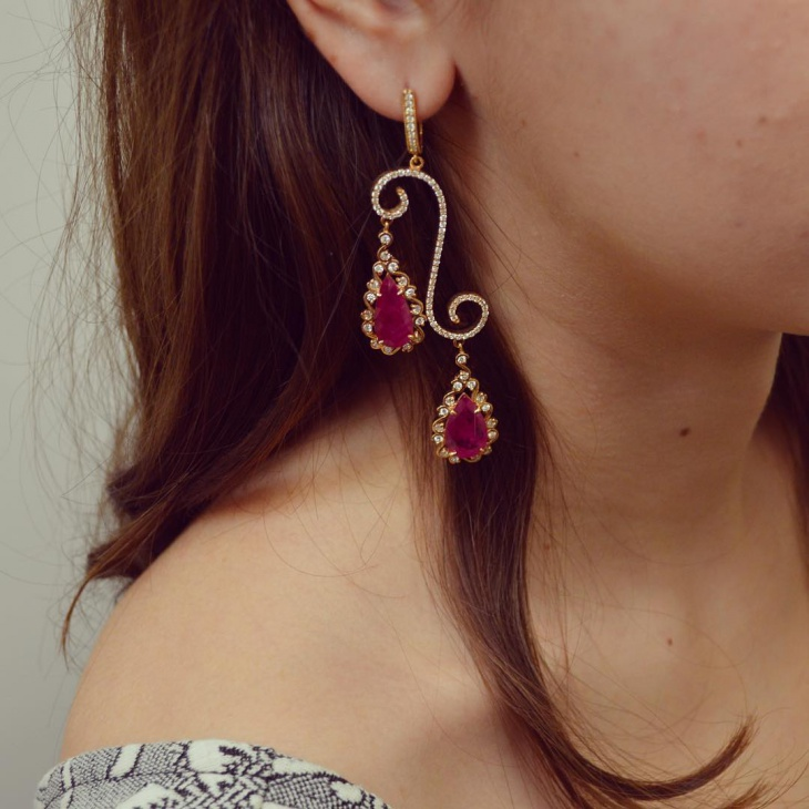 trendy ruby earrings idea