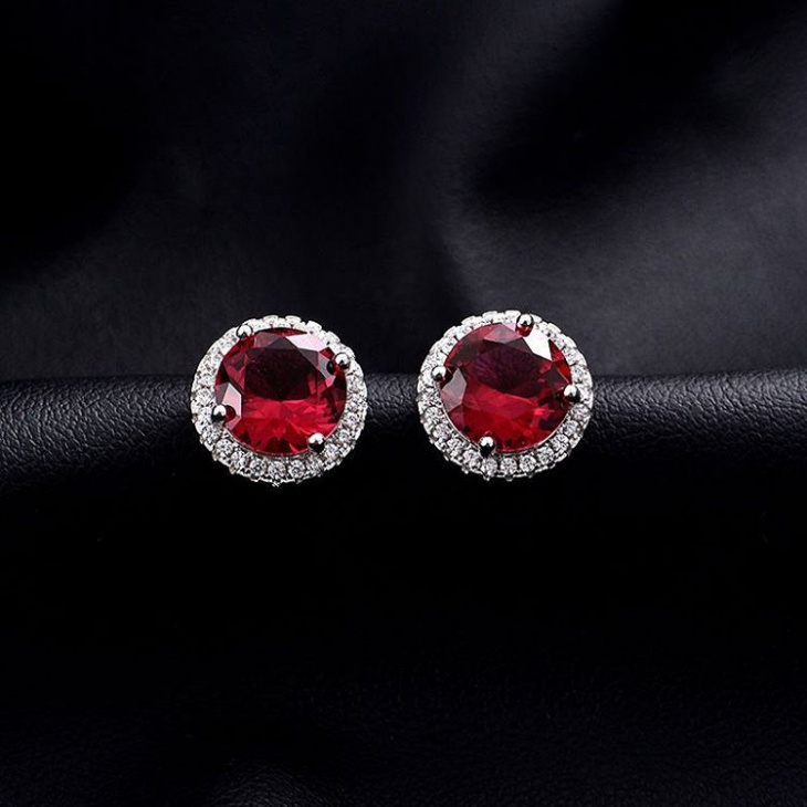 ravishing ruby earrings