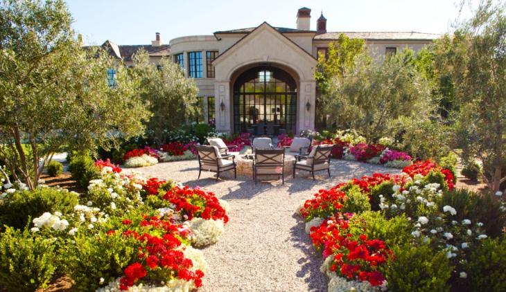 Backyard Peony Flower Garden