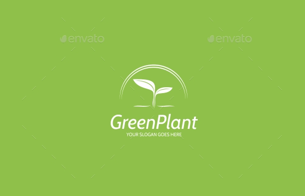 green plant logo design