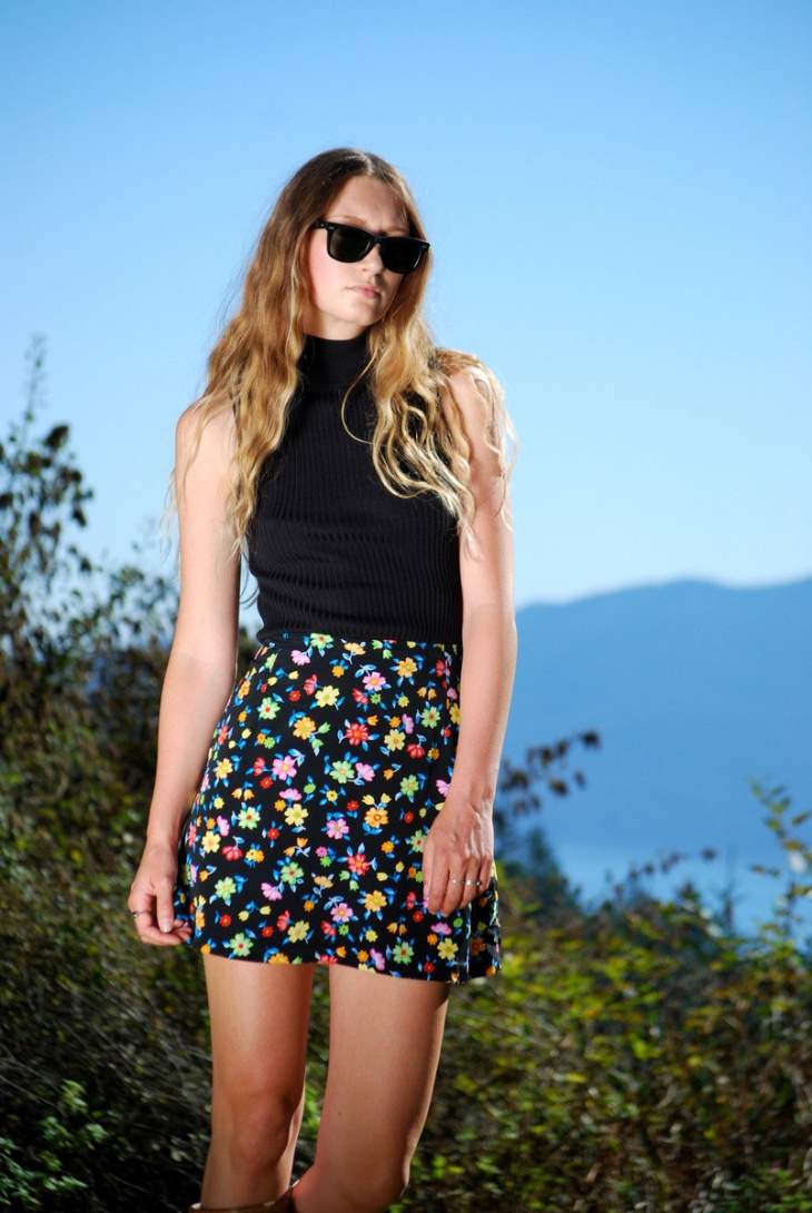 floral skirt dress idea