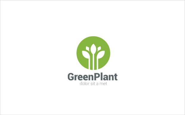 Green Plant PSD Logo