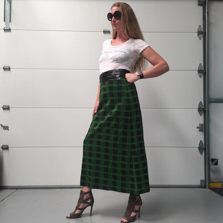 Green and Black Skirt Idea