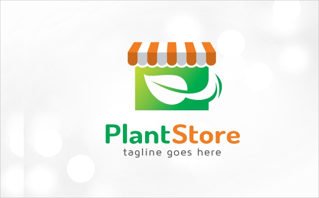 Plant Store Logo Template