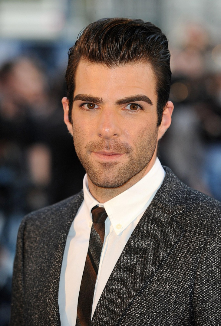 Zachary Quinto Greaser Hairstyle