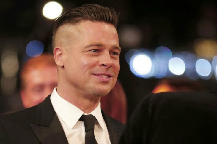 brad pitt greaser undercut hairdo