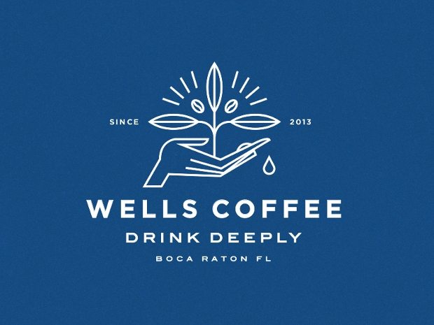 wells coffee plant logo