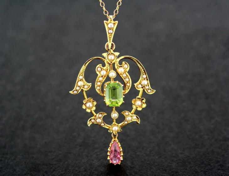 Antique Peridot Jewelry Design