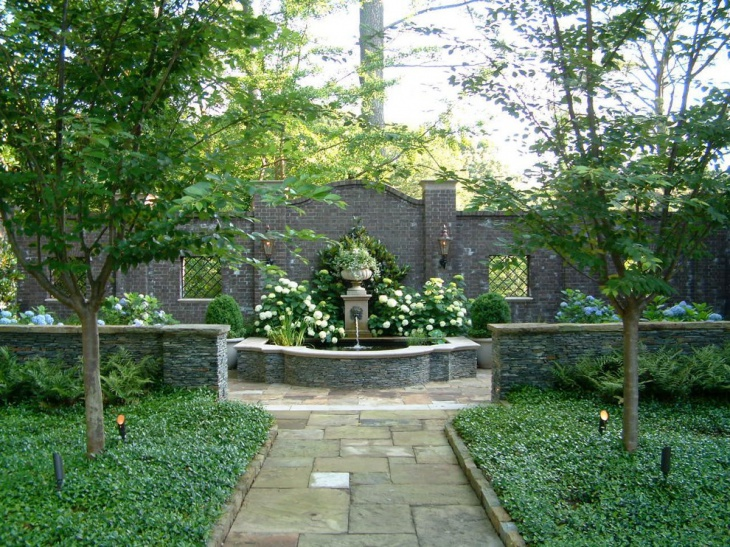 Fountain Shrub Garden