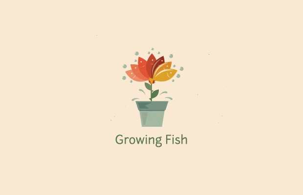 plant fish logo idea