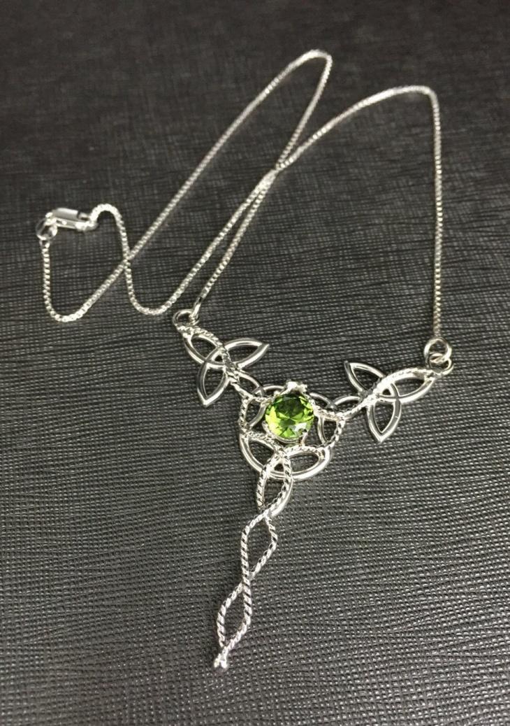 Peridot Celtic Jewelry Design