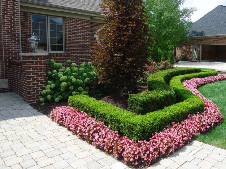 Landscape Shrub Garden Idea