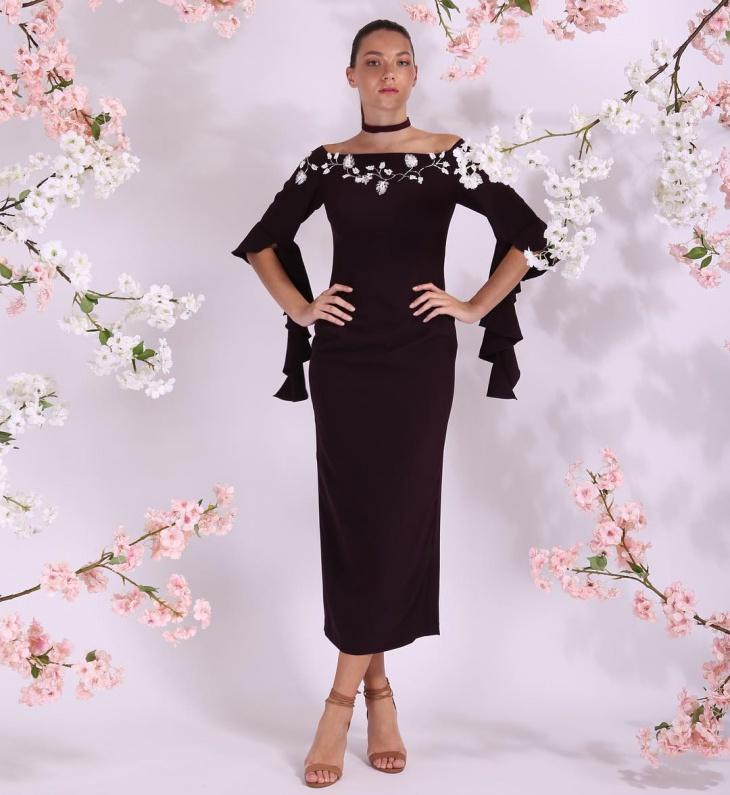 Simple Black Color Dress Design