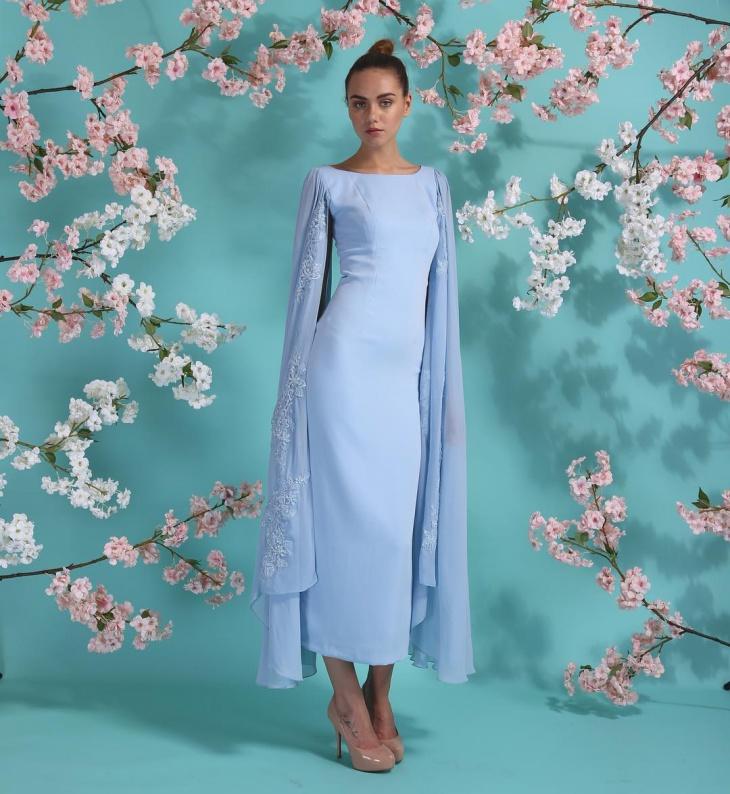 Beautiful Blue Flamboyant Dress