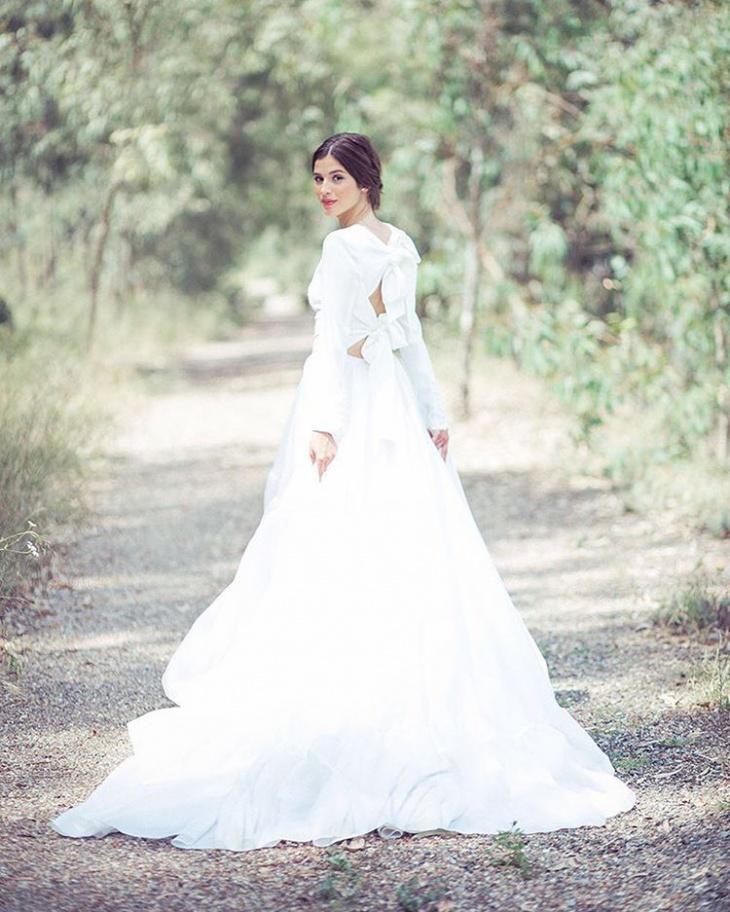 White Color Floor Length Dress Design