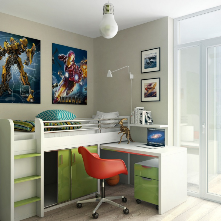 kids space saving desk