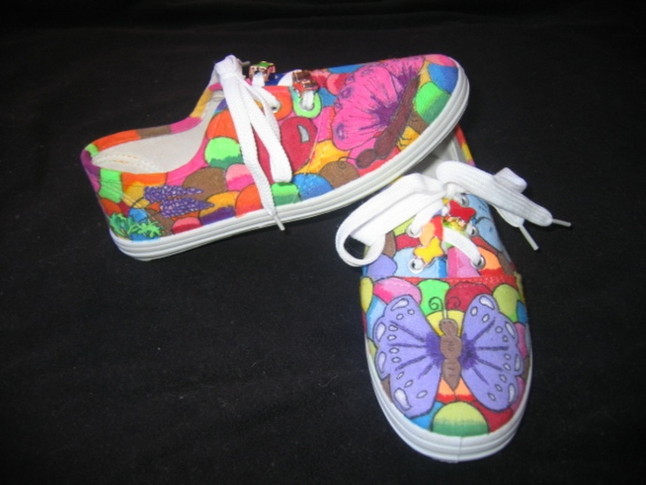 Butterflies and Bubbles Custom Made Shoes