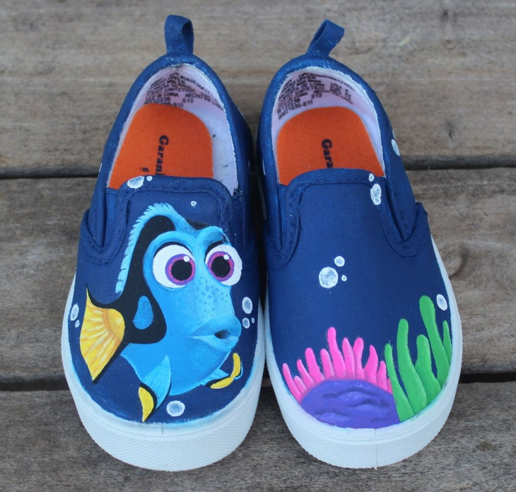 Hand Painted Dory Shoes