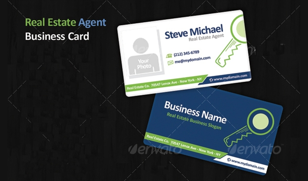real estate agent business card design
