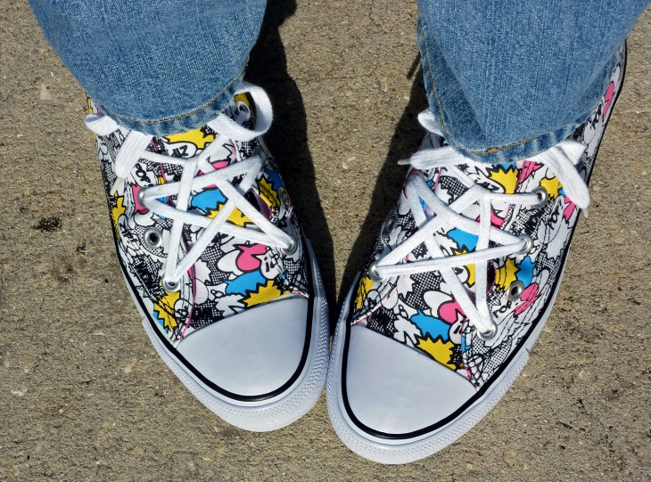Comic Speech Bubble Shoes