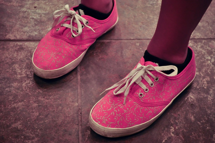 Pink and Silver Bubble Shoes