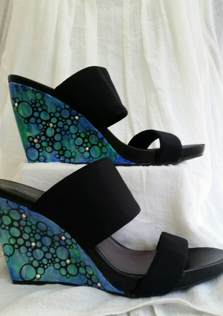 Beautiful Hand Painted Bubble Shoes