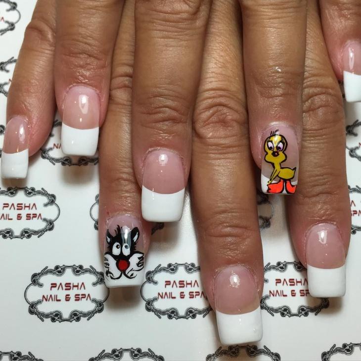 14+ Tweety Nail Art Designs, Ideas