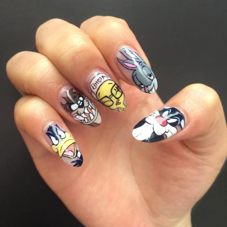 14 tweety nail art designs ideas design trends premium psd cartoon nail design prinsesfo Image collections
