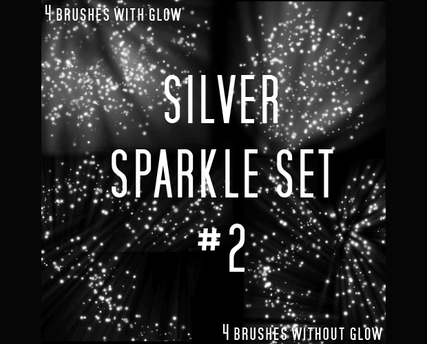 silver sparkle brushes set