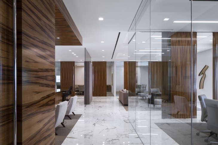 Wooden Glass Office Partition