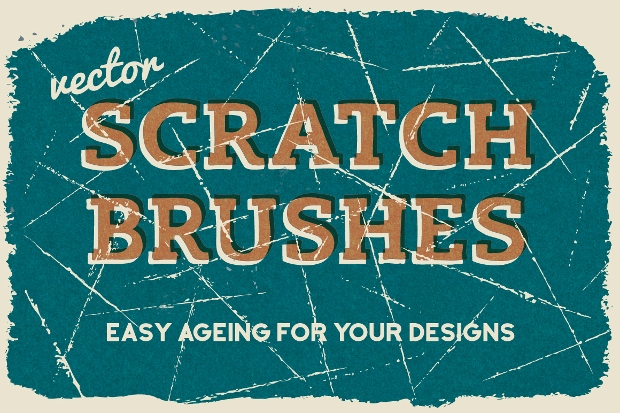 vector eps scratch brushes