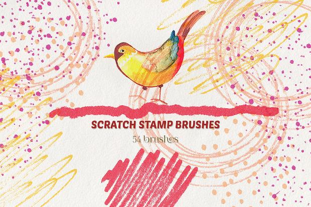 scratch brushes set