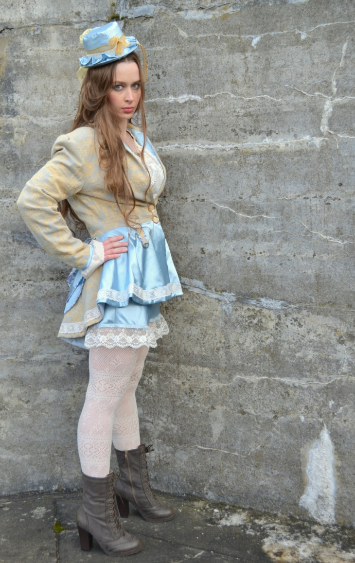 Patchwork Steampunk Lolita Outfit