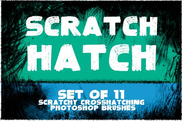scratch hatch photoshop brushes set
